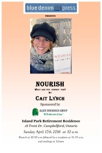 Book Launch Large Poster NOURISH